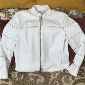 👠St. John Sport Leather Jacket